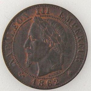 France, Napoléon III, 1 Centime 1862 BB, TTB/TTB+, KM# 795.2