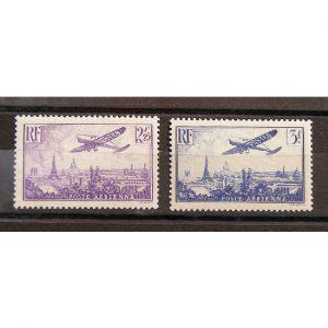 FRANCE, Poste Aérienne n°10 et 12 N** Cote 85€