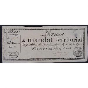 France, Promesse de mandat territorial, Bon de 25 Francs, Série:11, TB
