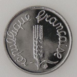 France, 1 Centime 1995, SPL++, KM# 928