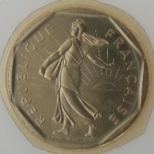 France, 2 Francs 1984, Semeuse, FDC , KM#542.1