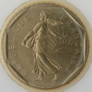France, 2 Francs 1985, Semeuse, FDC , KM#542.1