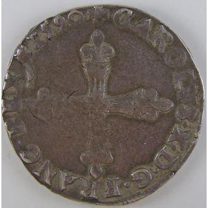 France, Charles X, 1/4 Ecu 1590 A, TTB, Duplessy: 1177