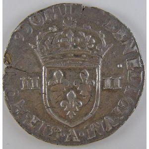 France, Charles X, 1/4 Ecu 1591 A, TTB, Duplessy: 1177
