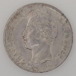 France, Charles X, 5 Francs 1827 L, TTB+/SUP, KM# 728.8