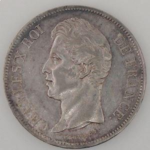 France, Charles X, 5 Francs 1828A, TTB+/SUP, KM# 728.1