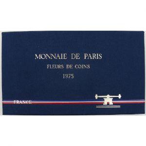 France coffret FDC 1975, Tranche A, 1 CENTIME REBORD