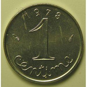 France, Epi, 1 Centime 1978 Rebord SUP+/SPL, KM# 928
