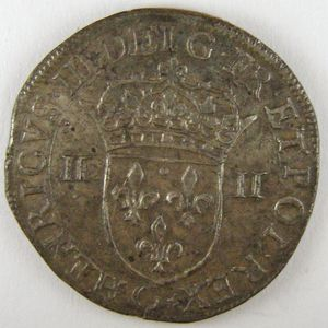 France, Henri III, 1/4 Ecu 1586 C, TTB+/SUP, Dup:1133a