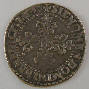 France, Henri III, 1/4 Franc 1587 A, TTB, Dup:1132