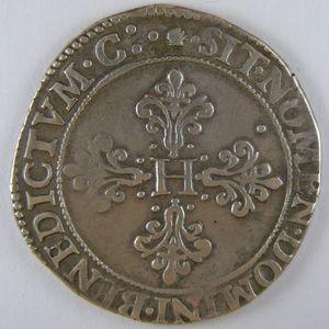 France, Henri III, Franc d'argent 1581 M , Dup: 1130a, TTB