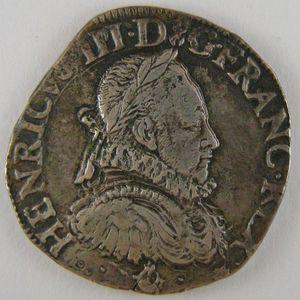 France, Henri III, Teston 1575 K, TTB, Dup: 1126b