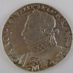 France, Henri III, Teston 1575 M, TB+, Dup:1104