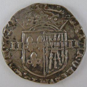 France, Louis XIII, 1/4 Ecu de Navarre 1625, KM# 48, TTB