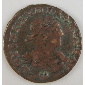 France, Louis XIII, Double tournois 1639, TB+, Gad: 11