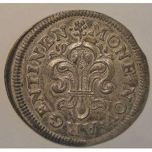 France, Louis XIV,  II Sols de Strasbourg 1683, Gad: 98, 1.61gr