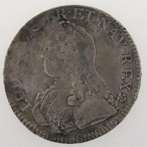 France, Louis XV, Ecu aux branches d'olivier 1739 AA, TB+, KM# 486.2