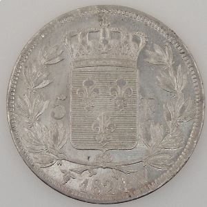 France, Louis XVIII, 5 Francs 1824 W, SUP, KM# 711.13