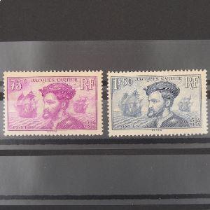 FRANCE n°296 et 297 N* Cote 82€