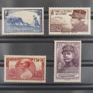 FRANCE n°454-457  N** Cote 52€