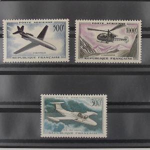FRANCE Poste Aérienne, n°35-37  N** Cote 110€