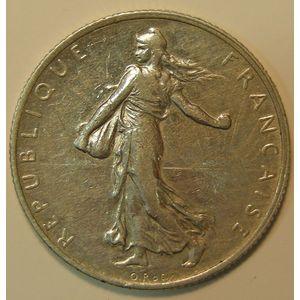 France, Semeuse, 2 Francs 1912, TTB, KM# 845.1