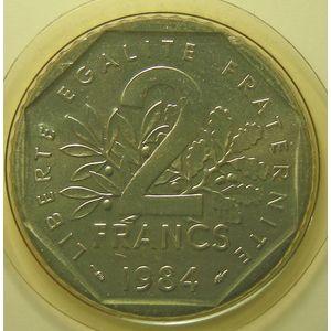 France, Semeuse 2 Francs 1984 FDC, KM# 942.1