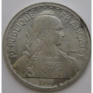 French Indochina, 20 Cent 1945 C, SUP/SPL, Lec: 253