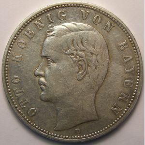 Germany, Bayern, 5 Mark 1903 D, TTB, KM#915