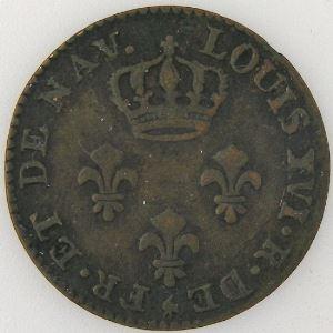 Guyane, 2 Sous 1782 A, TTB, Lec: 13