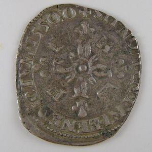 Henri II, Douzain aux croissants 1550 O Moulins, TB, Dup: 997