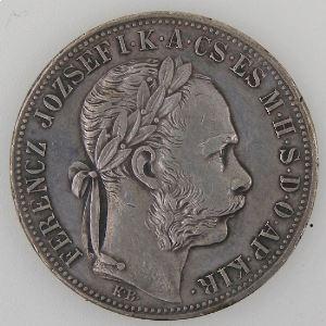 Hongrie, Hungary, 1 Forint 1886, TTB, KM#469