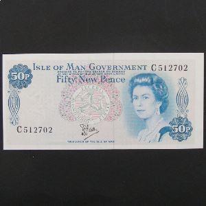 Ile de Man, 50 New Pence ND, XF-UNC