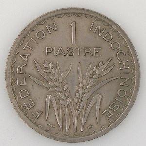 Indochine, 1 Piastre 1947, TTB/SUP, KM#32.1