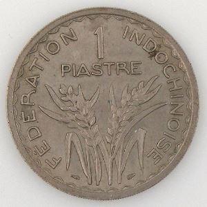 Indochine, 1 Piastre 1947, TTB/SUP , KM#32.1