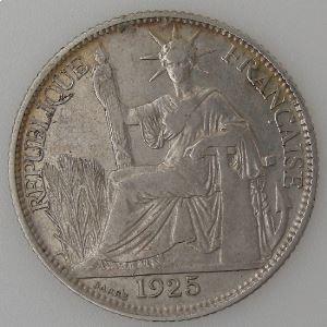 Indochine Française, 20 Cent 1925, TB+, KM#17.1