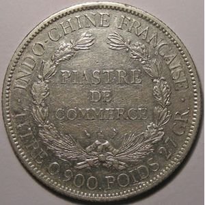 Indochine, Indochina, 1 Piastre 1898, TB+, Lecompte: 280