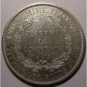 Indochine, Indochina, 1 Piastre 1900, TTB+, Lecompte: 282
