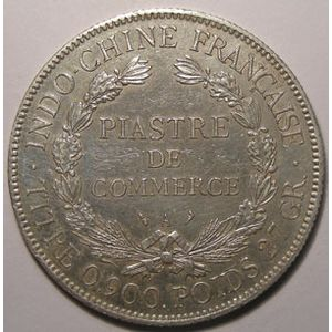 Indochine, Indochina, 1 Piastre 1909, TTB, Lecompte: 292