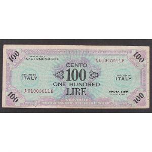 Italie, 100 Lire 1943, VF