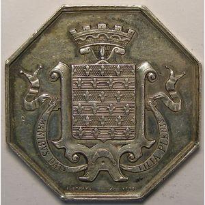 Jeton octogonal 34mm signé A.Borrel , Caisse d'épargne de Beaugency fondée en 1836