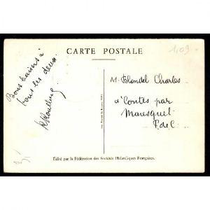 Journée du Timbre 1946 - LENS - Fouquet de la Varane