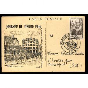 Journée du Timbre 1946 - lLENS - Hôtel de Ville