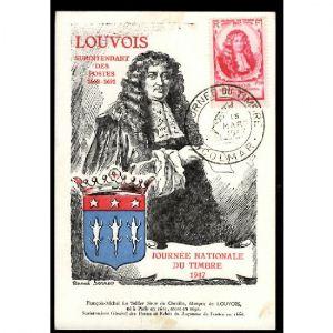 Journée du Timbre 1947 - COLMAR - LOUVOIS Surintendant des Postes 1668-1691