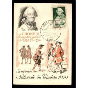 Journée du Timbre 1949 - LENS - CHOISEUL Surintendant Général des Postes 1760-1770