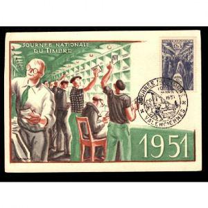 Journée du Timbre 1951 - VALENCIENNES