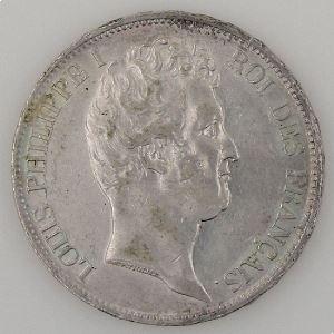 Louis-Philippe I, 5 francs 1831 W TTB+, KM# 735.13 Edge incuse