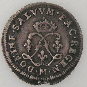 Louis XIV, 4 Sols aux 2 L 1694 M Toulouse, TB/TB+, Gad: 106
