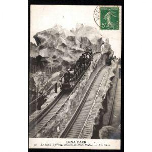 LUNA PARK Le Scénic Railway, descente du Pikes Peakes. -