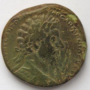 Marc Aurèle, Marcus Aurelius, Sesterce, R/ TR P XVIII IMP II COS III SC, TB/TB+